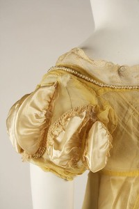 1811 Silk evening gown sleeve detail, Metropolitan Museum of Art