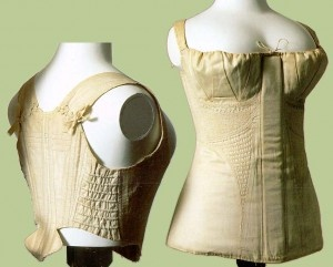 "Short stays and corset from the Met museum, courtesy ""Jane Austen's World"""