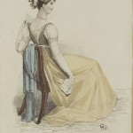 1813 la belle assemblee evening gown