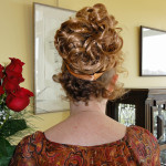 hair in fall back view