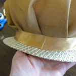 hat 1 fold end of ribbon and tape under