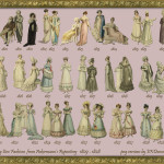 Erica Duncan's montage of Regency fashion plates for each year between 1809 to 1828.  Original art from Ackermann's Repository for Arts. Click on thumbnail for much larger image.