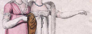 From La Belle Assemblee April 1808, opera gloves