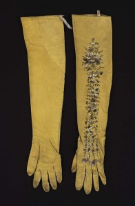 Museum of Fine Arts, Boston--Women's Gloves, early 19th century, silk.