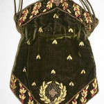 "Reticule, 10-1/4"" long, French. Early 19th c. Silk, metal, glass. Metropolitan Museum of Art"