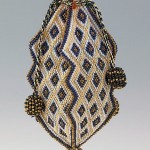 Reticule, 1818. Glass, silk. Brooklyn Museum Costume Collection.