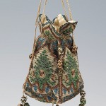 Reticule, silk and metal, 1800–1810, probably German. Metropolitan Museum of Art. Like Petal Reticule #2.