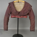 Rose pink striped cotton and silk spencer, early 19th C.