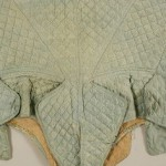 Spencer, late 18th to early 19th century, French, silk. Note the unusual detail below the centre back.