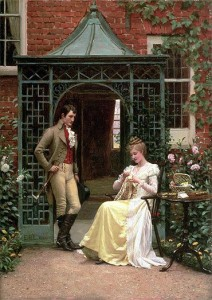 Regency boots with breeches: Edmund Blair Leyton On the Threshold