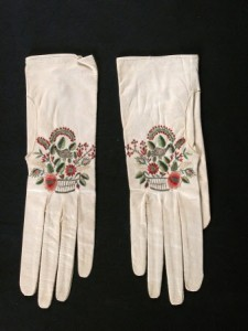 Embroidered kid gloves, 1800-1830, National Trust Museums