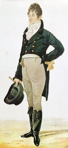 "George ""Beau"" Brummell, watercolor by Richard Dighton, 1805."