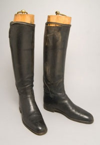 Riding Boots, 1810, British, leather. Philadephia Museum of Art
