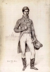 Trousers and Hessians: Thomas Philip Robinson the third Baron Grantham and later Earl de Grey aged 35 years - portrait study by the great French artist Jean Auguste Dominique.