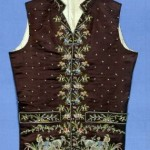 Waistcoat French or English, 1790–1810, Brooklyn Museum of Fine Arts. Note the detailed embroidery.