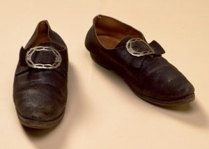 Regency shoes with buckle.
