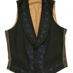 "Waistcoat, early 19th century, British, wool and silk. 21"" by 33"", Metropolitan Museum of Art."