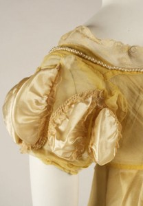 Sleeve detail for 1811 gown, Metropolitan Museum of Art.