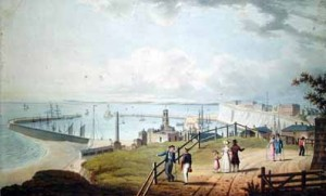 Ramsgate harbour, early 19th century. Image courtesy Michael's Bookshop.